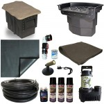 20 x 25 PVC Large Koi Pond Kit 5500 GPH Pump Big Bahama 26 Inch Waterfall and PondBuilder Skimmer PVCLH2