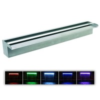 "Patriot Steel Elegance STE24CC Color Changing 24"" Lighted Stainless Steel Spillway"
