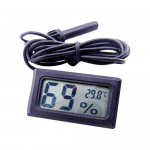 LCD Digital Embedded Thermometer Hygrometer Probe for Incubator Aquarium Poultry Reptile