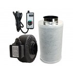 Powermaxx Premium Charcoal Carbon Filter and Inline Fan Combo with Speed Controller and Ducting(No Ducting, 4 inch)