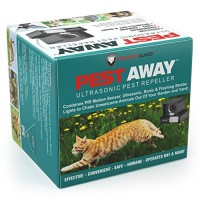 PestAway Ultrasonic Outdoor Animal & Cat Repeller with Motion Sensor STOPS Pest Animals Destroying Your Gardens & Yard