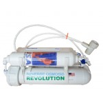 Aquarium 4-stage Countertop Reverse Osmosis Revolution RO System with DI/T33 Deionizing Mixed Bed 0PPM, 75 GPD, made in USA