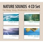 NATURE SOUNDS 4 CD Set - Ocean Waves, Forest Sounds, Thunder, Nature Sounds with Music for Deep Sleep, Meditation, & Relaxation