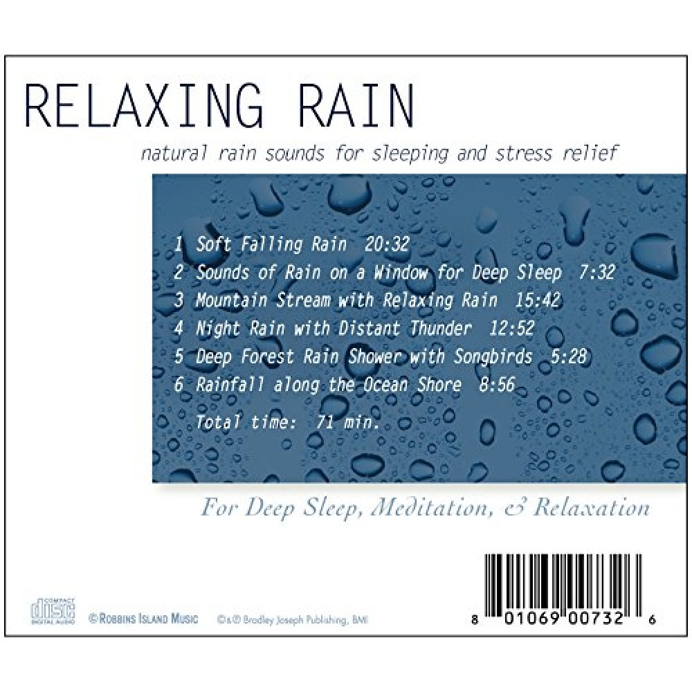Rest & Relax Nature Artist Series - Relaxing Rain: Natural Rain