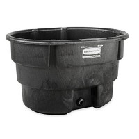 Rubbermaid Commercial Stock Tank, 70 Gallon, Structural Foam, Black, (FG424400BLA)