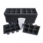 720 Seed Starting Cells for Plant Germination +10 Plant Labels & Bumper Sticker (1206 Pattern) (120 Seedling Starter Trays) for Gardening, Greenhou...