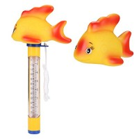 SENGKA Floating Pool Thermometer by with String, Shatter Resistant,for for Swimming Pool, Bath Water, Spas,Hot Tubs, Aquariums and Fish Ponds(Gold ...