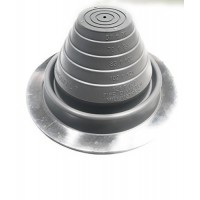 EAGLE 1: #3 Metal Roof Pipe Flashing Boot - Cut to Fit Almost Any Pipe - Flexible & Adjustable Roof Jack Pipe Boot - (Grey)