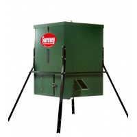 Sweeney Feeders Scatter Feeder Leg Package - 300 Pound Capacity, Green w/Premium Timer, 4 Foot Leg