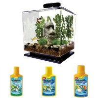 Tetra Cube 3-Gallon Aquarium Starter Bundle with 3 water conditioners