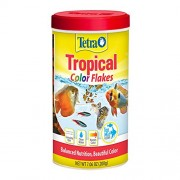 TetraColor Tropical Flakes with Natural Color Enhancer, 7.06-Ounce