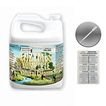 Enzymes Komplete Natural Cleaner - 10 Liters + Twin Canaries Chart & Pipette