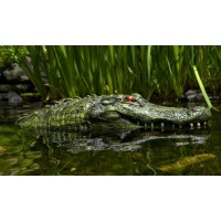 "28"" Alligator Head Decoy & Pond Float with Reflective Eyes For Canada Geese & Blue Heron Control"