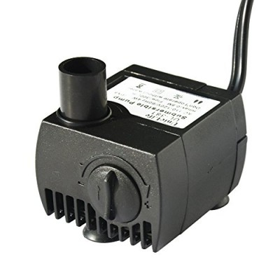 Uniclife UL80 Submersible Water Pump, 80 GPH Aquarium Fish Tank Powerhead Fountain Hydroponic Pump with 6ft UL Listed Power Cord
