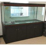 200 Gallon Glass Fish Tank Reef Aquarium, with Filter System, T8 Lighting System, and Cabinet Stand, for Fresh or Salt Water