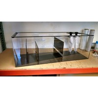 50 gal Refugium-Sump, Wet/Dry, Aquarium Filter-48x15x15 High-Includes 2 sock holders with socks and bulkheads