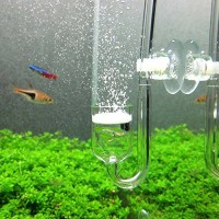 CO2 Diffuser, Yagote Nano CO2 Diffuser Glass Reactor for Aquarium Planted Tank