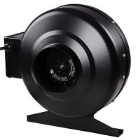 "4"" Inline Duct Exhaust Fan Air Blower Hydroponics Cooling Vent HO 2580RPM 175CFM"