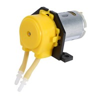 Dosing Pump12V DC Peristaltic Liquid Pump Hose Pump Dosing Head for Aquarium Lab Analytical Water (Yellow)