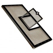 Zilla Reptile Fresh Air Screen Cover with Hinged Door, 30-1/4 by 12-7/8-Inch, Black