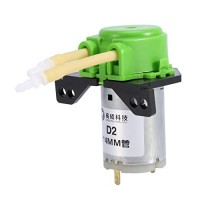 12V DC DIY Dosing Pump Peristaltic Dosing Head Automatic Doser Pump Connector for Aquariums Lab Analytic Liquid (Green)