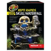 Zoo Med Repti Rapids LED Skull Waterfall Natural Rock Reptiles Terrariums Medium