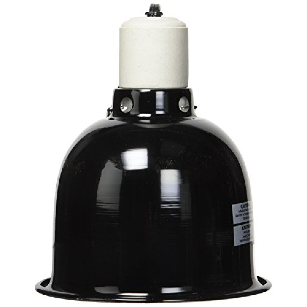 Zoo Med Mini Deep Dome Lamp Fixture With 5 5 Inch Dome Black Pet Habitat Lights Pet Supplies