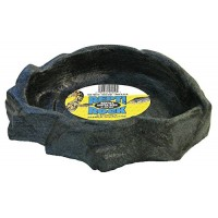 Zoo Med Reptile Rock Water Dish, X-Large, Assorted colors